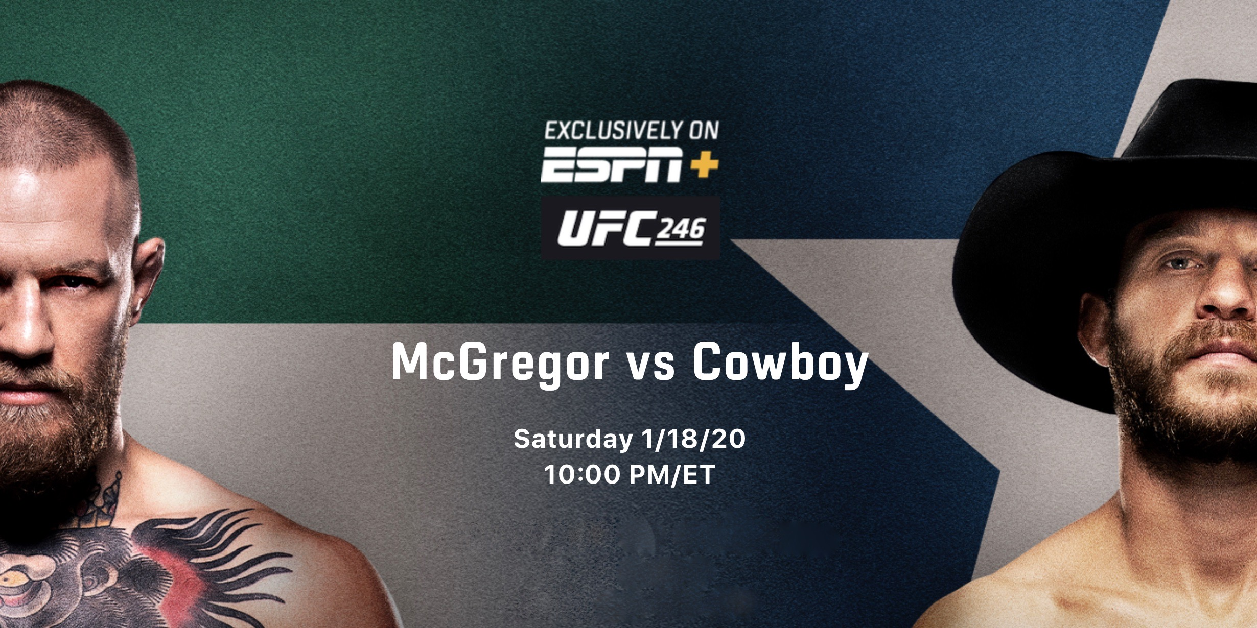 Watch UFC 246: McGregor Vs Cowboy 1/18/20
