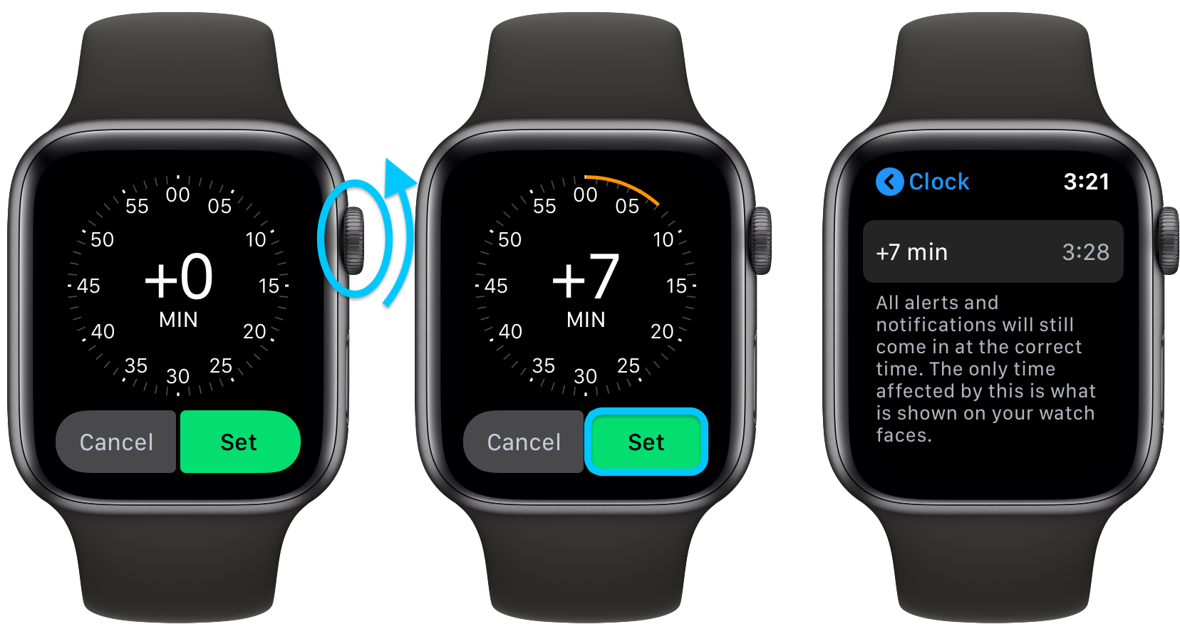 How to manually adjust Apple Watch time