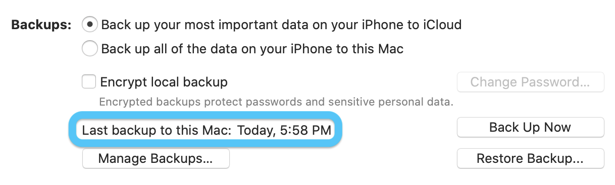 How to backup iPhone on Mac macOS Catalina walkthrough 3