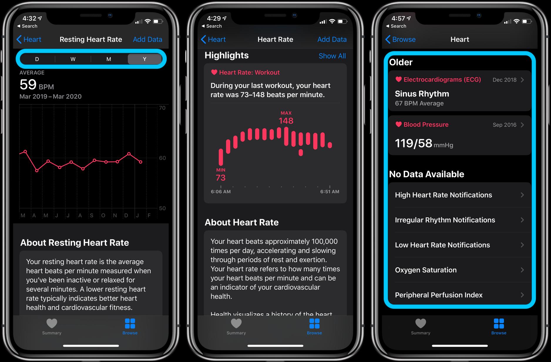 Как просмотреть историю пульса Apple Watch - iPhone