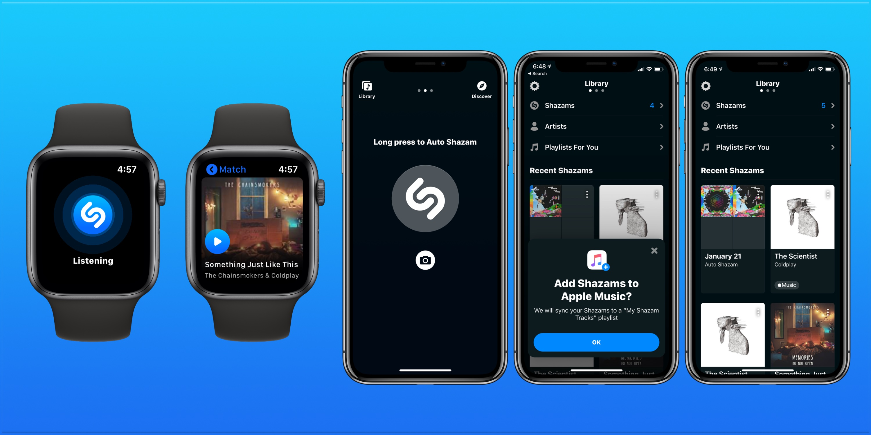 how to use Apple Watch to discover songs