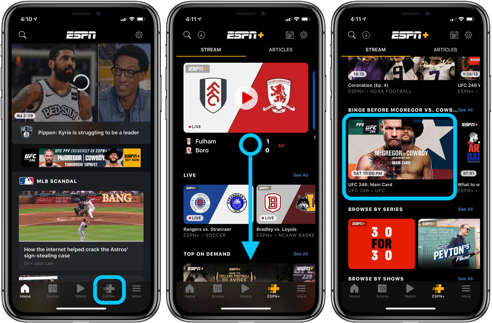 How to watch UFC 246 McGregor vs Cowboy iPhone iPad Apple TV