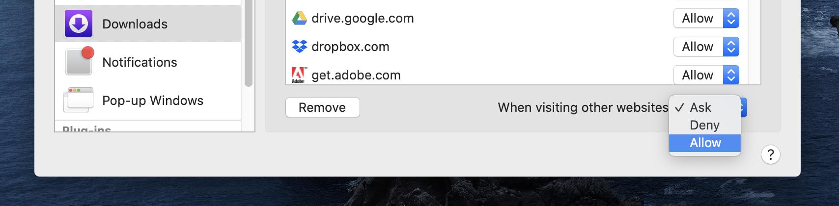 How to always allow downloads in Safari walkthrough 2