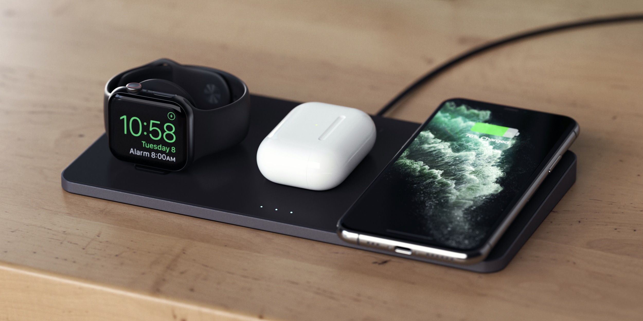 Satechi Launches Trio Wireless Charging Pad With Room For Iphone