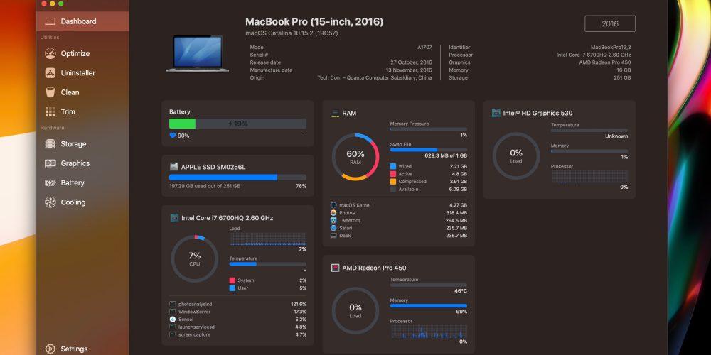 Sensei Mac monitoring performance app