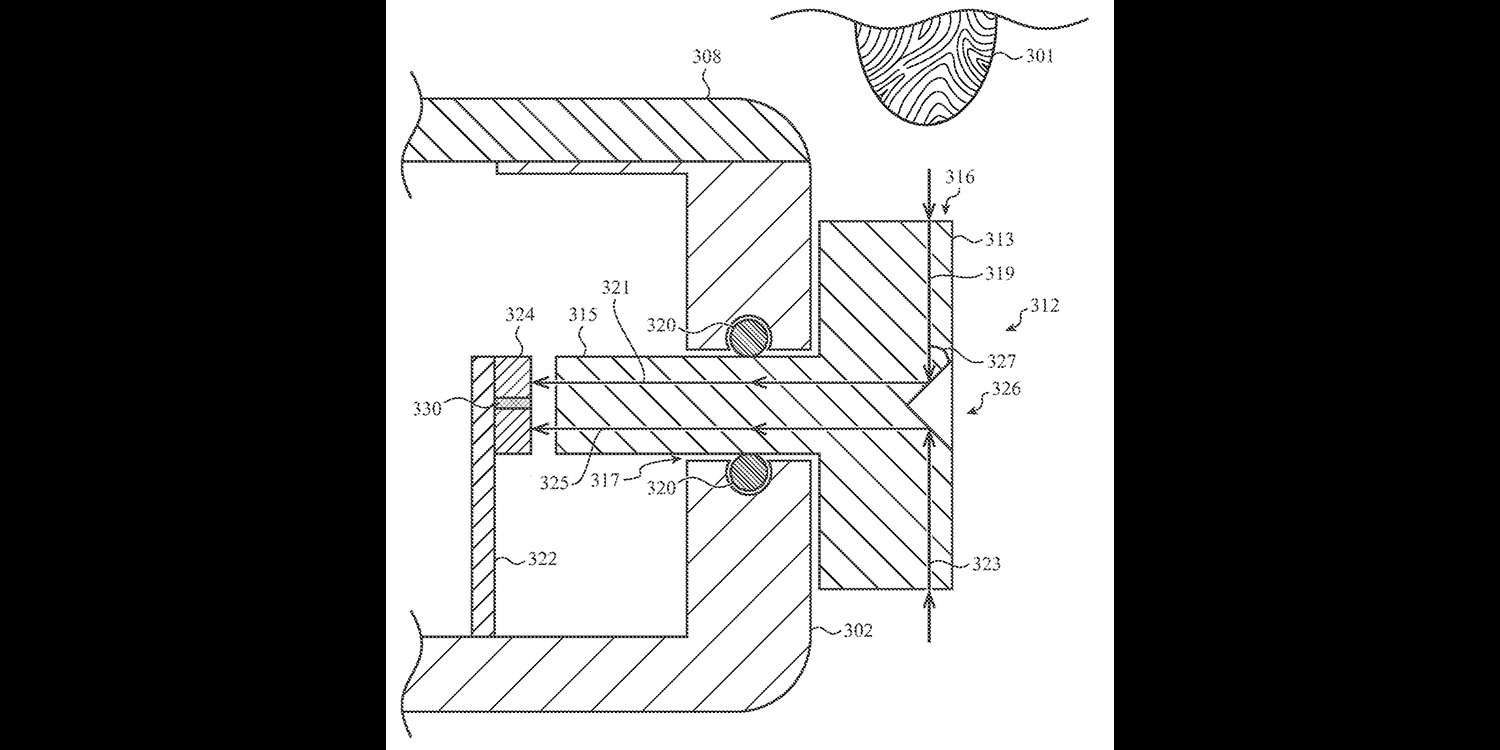 Patent application shows Apple Watch with Touch ID sensor in Digital Crown
