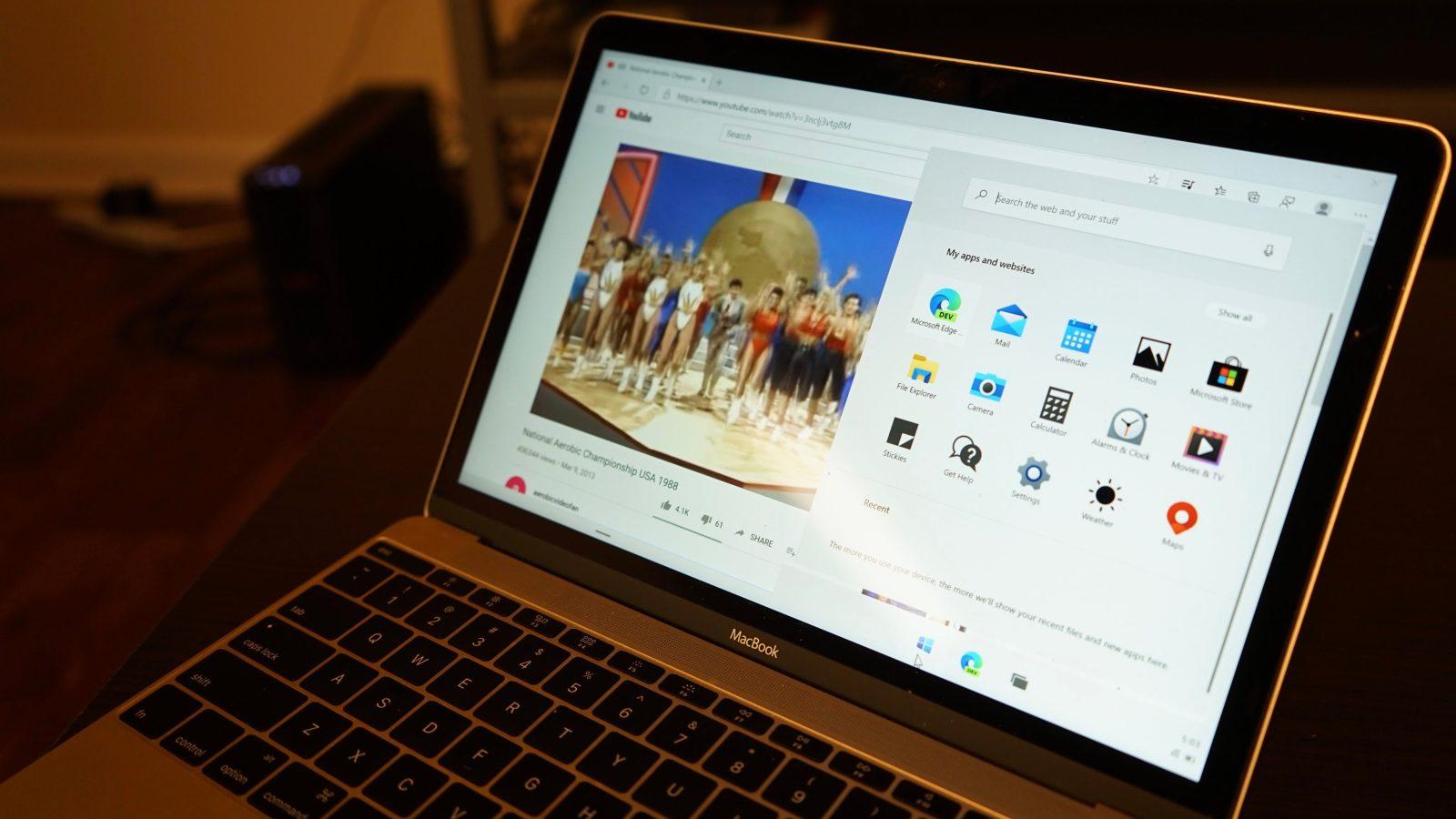 Developer successfully installs Microsoft's new dual-screen Windows 10X OS on a MacBook
