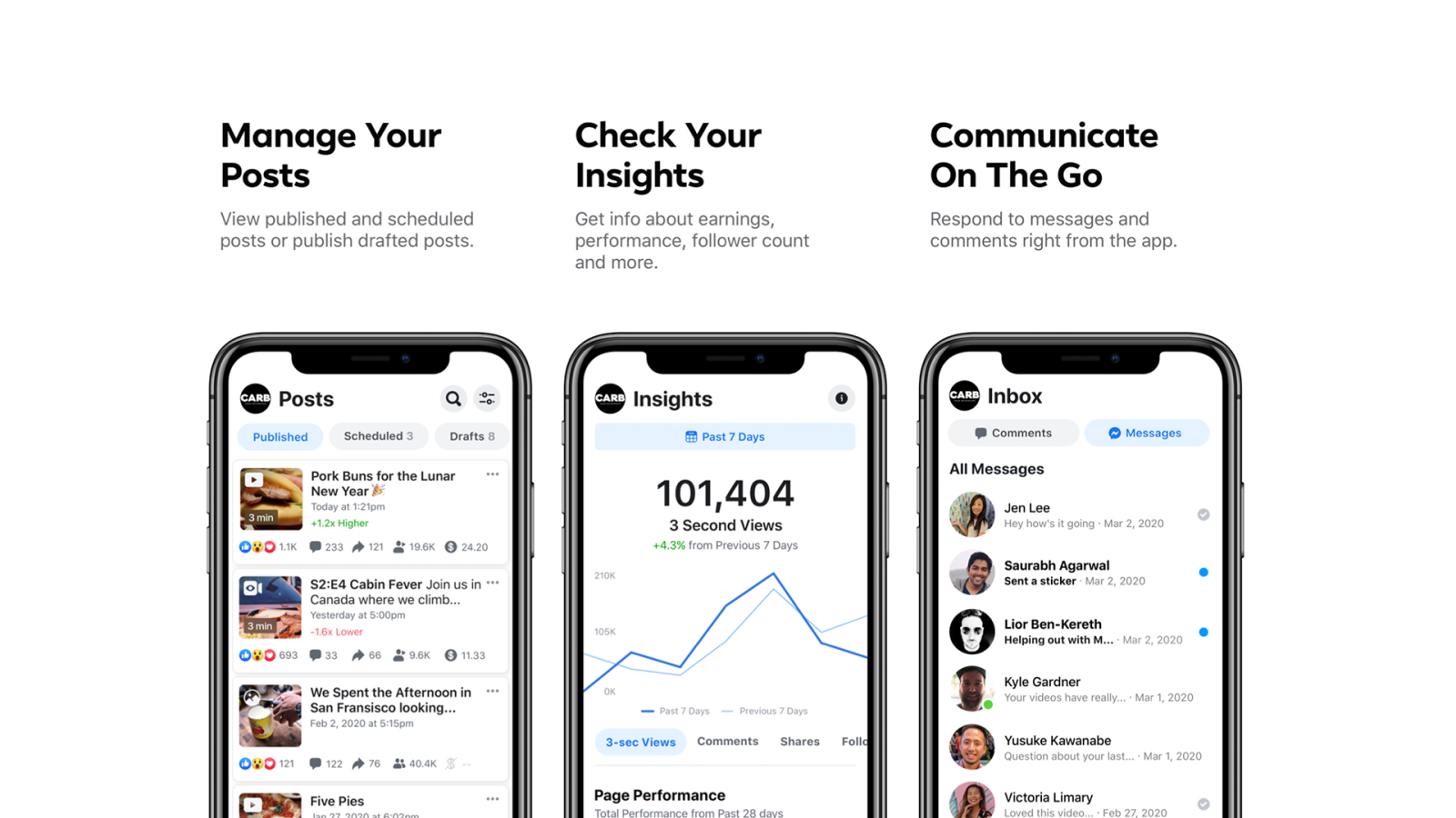 Facebook launches Creator Studio app which allows creators to manage page content on mobile devices