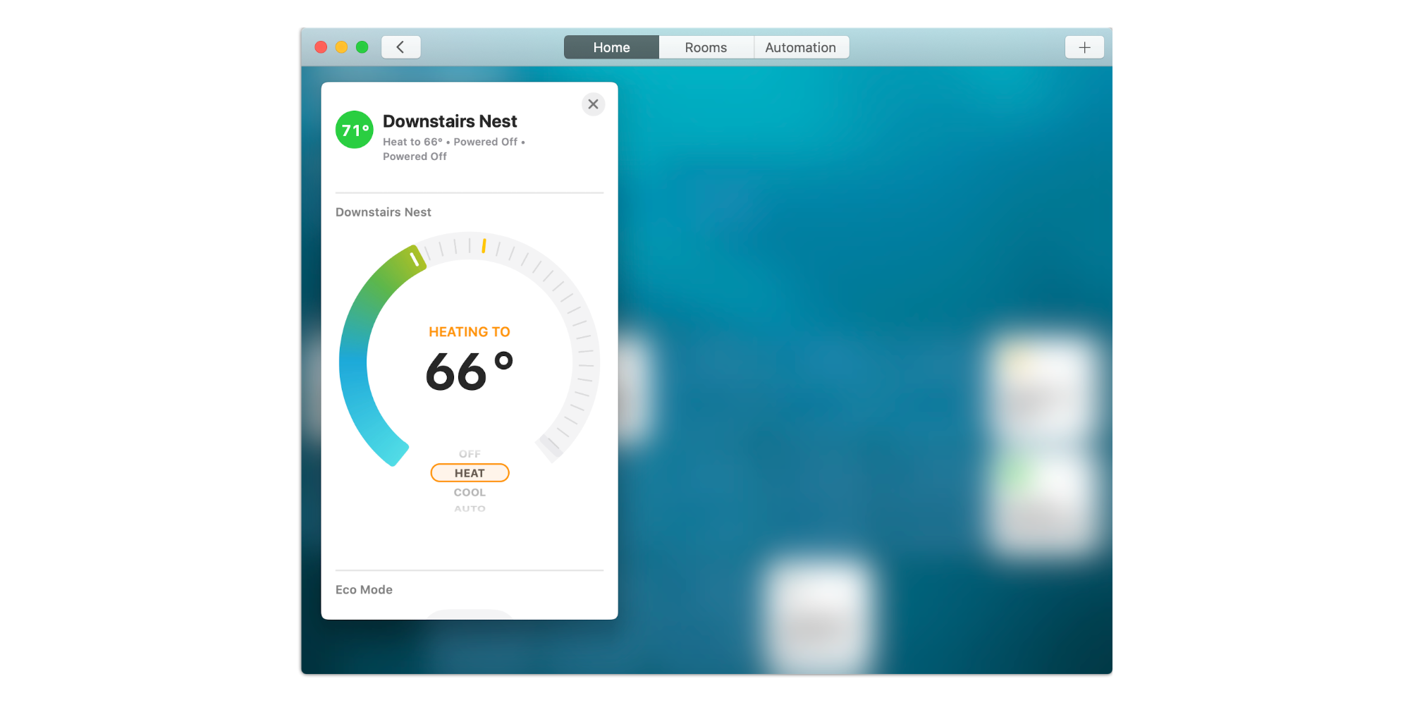 Nest in Homekit on Mac