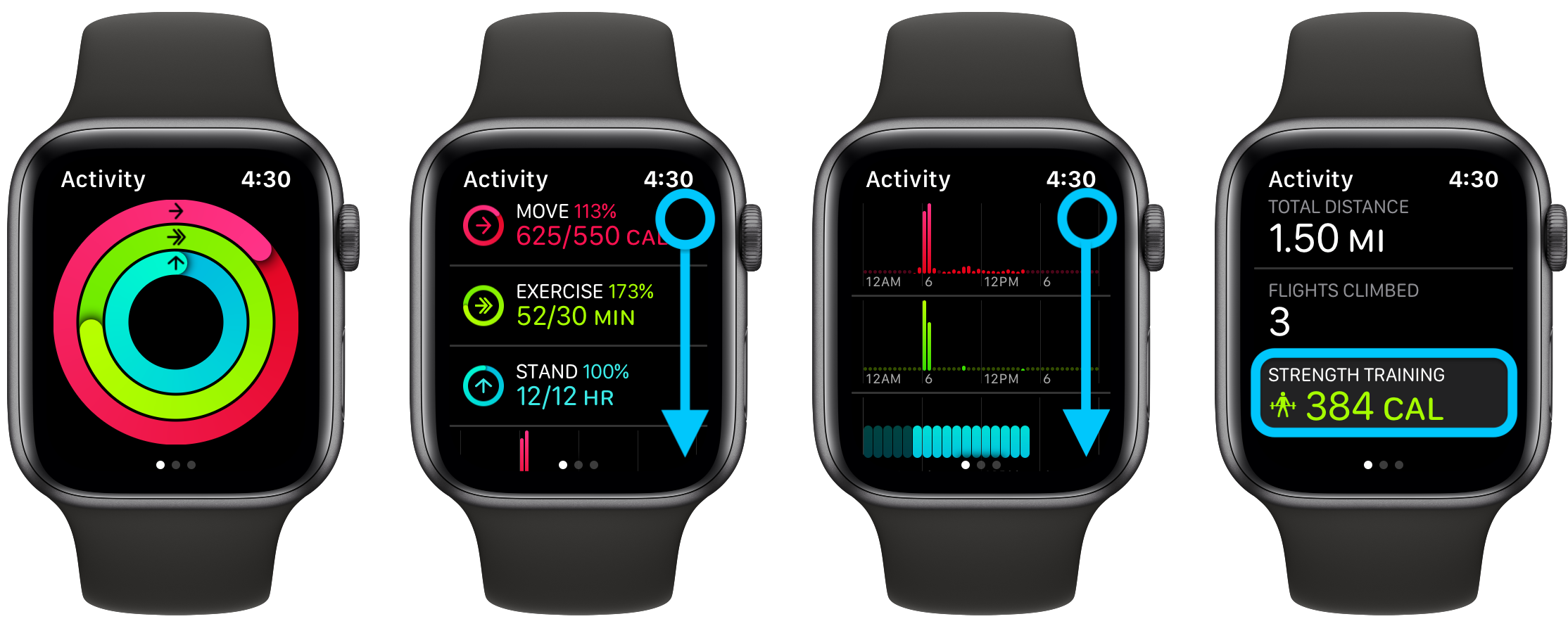 Apple Watch how to see workout history walkthrough 1