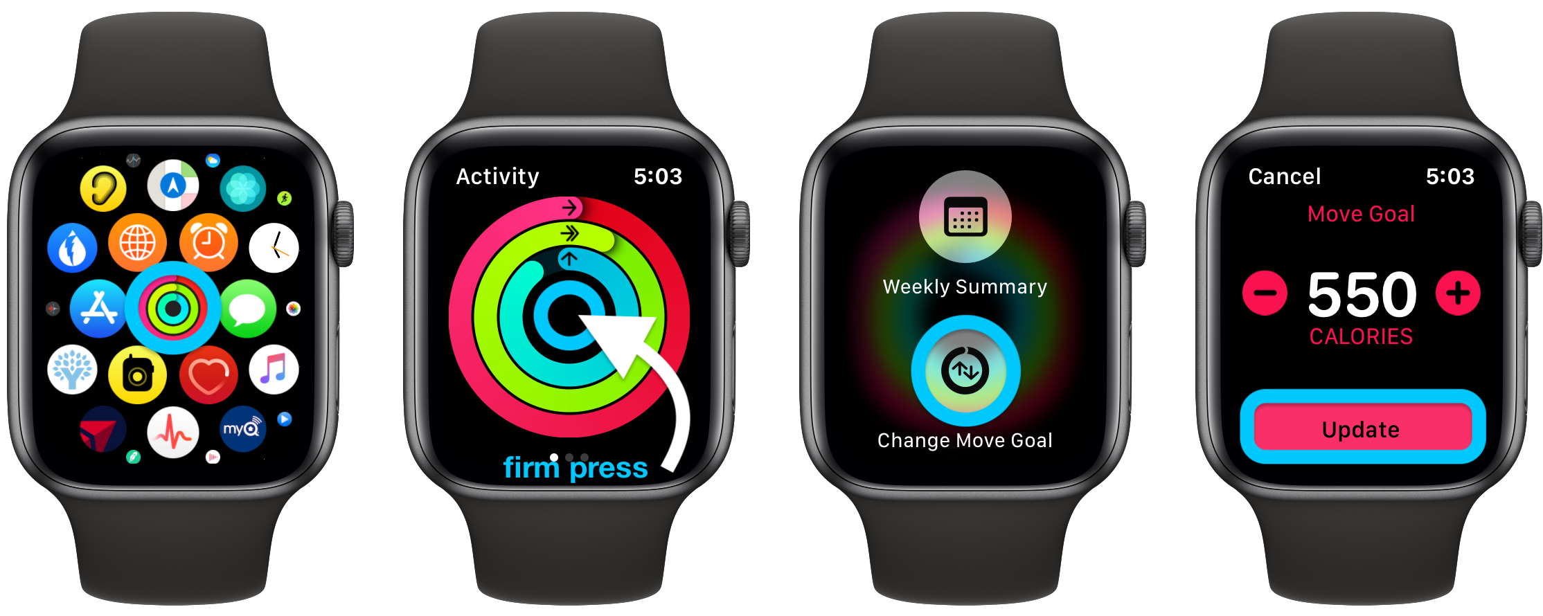 How to change Apple Watch Move goal Exercise goal walkthrough 1