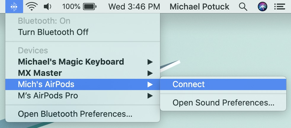 How to connect AirPods to Mac walkthrough 1