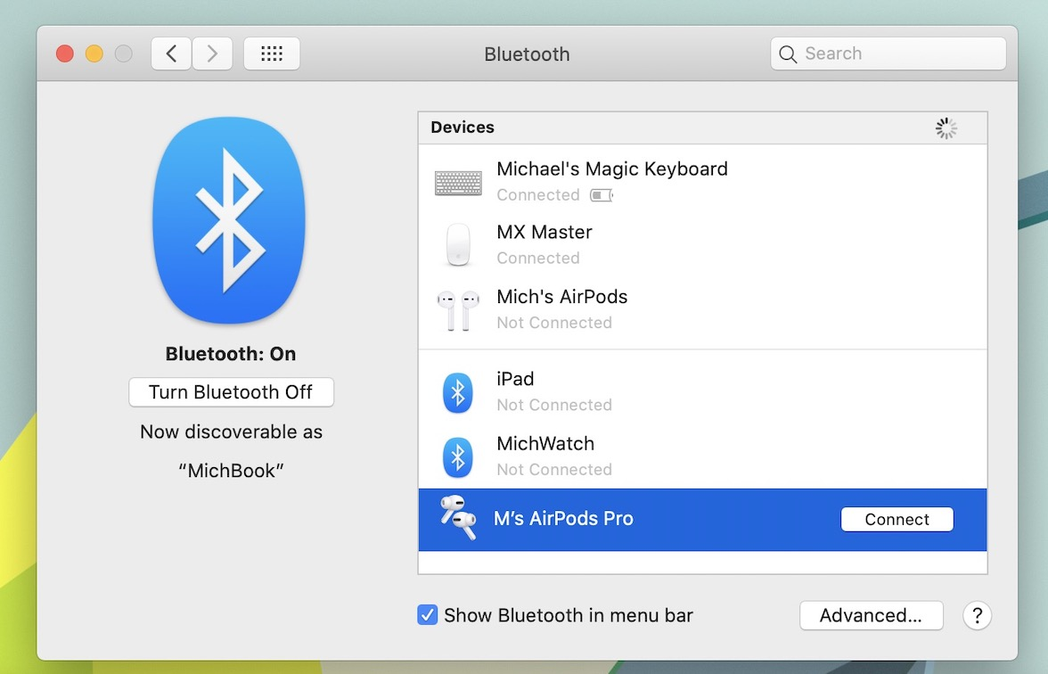How to connect AirPods to Mac walkthrough 3