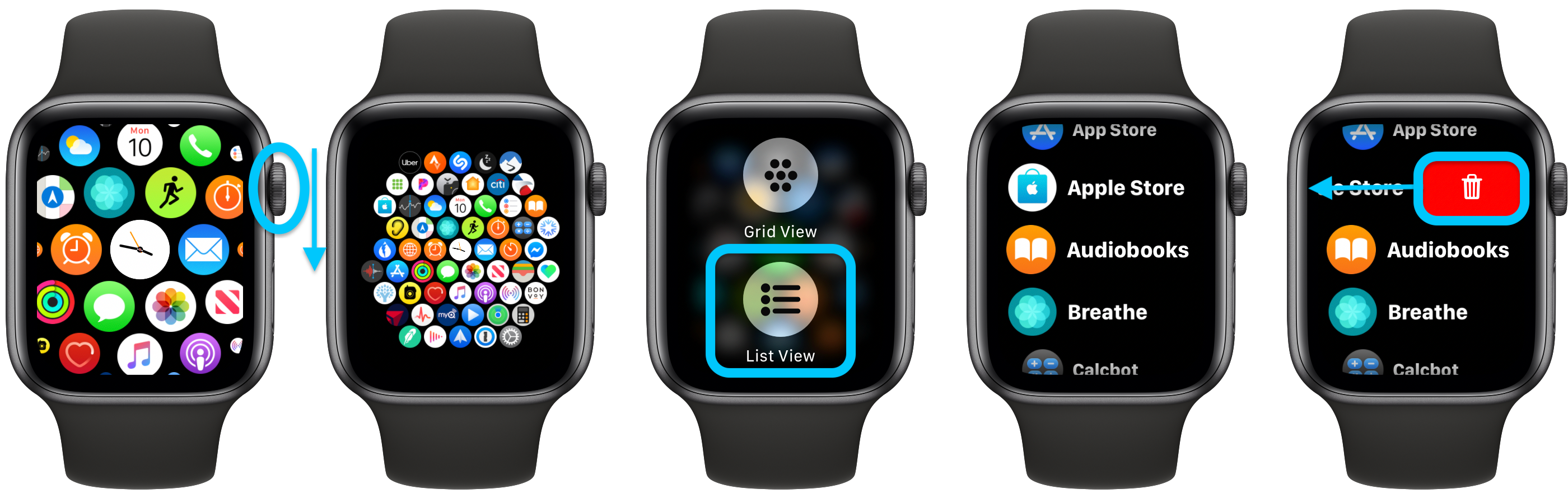 How to see all Apple Watch apps walkthrough 1