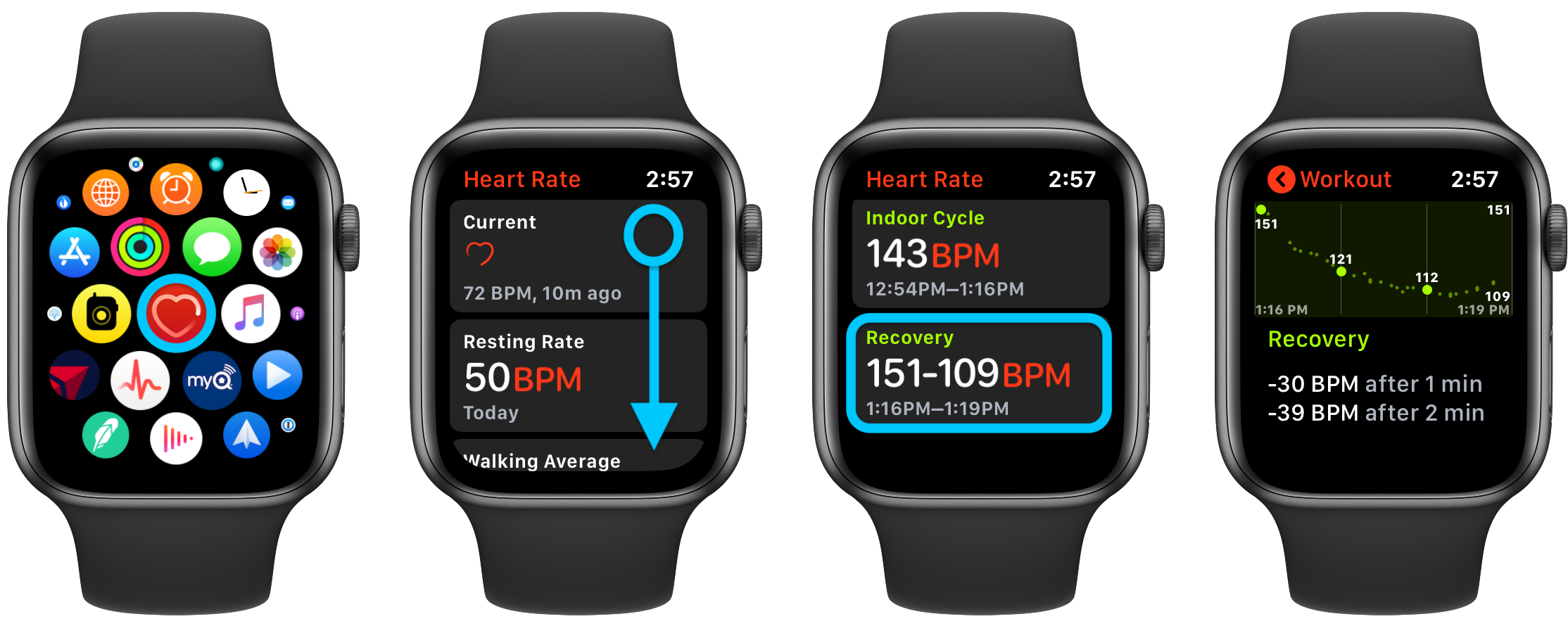 How to see Apple Watch heart rate recovery and what is it walkthrough 1
