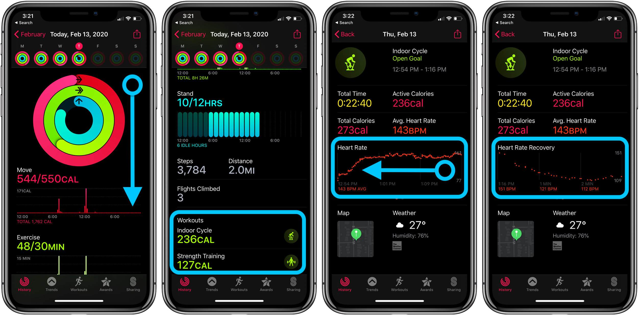 How to see Apple Watch heart rate recovery and what is it walkthrough 2