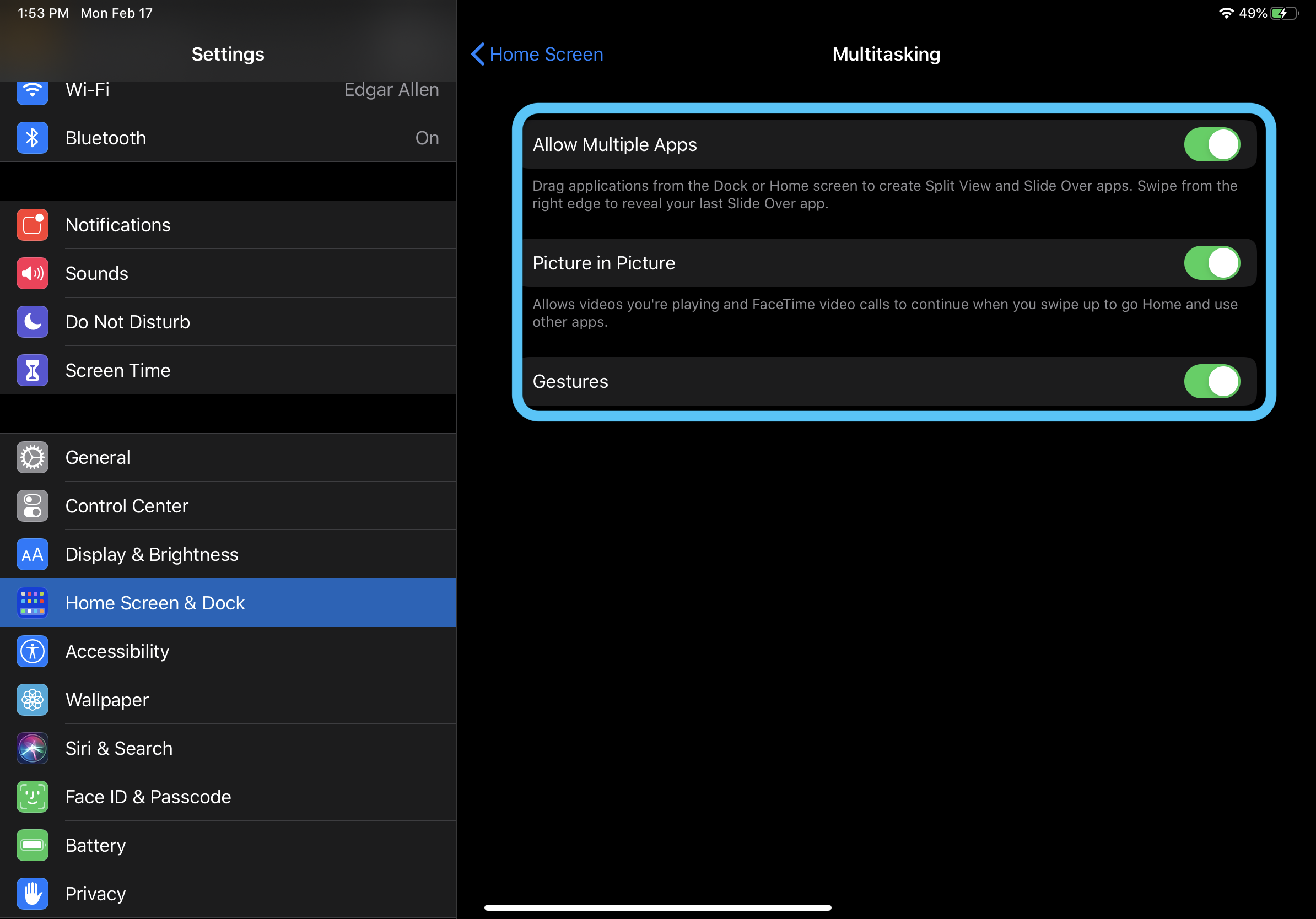 How to turn off iPad multitasking walkthrough 2