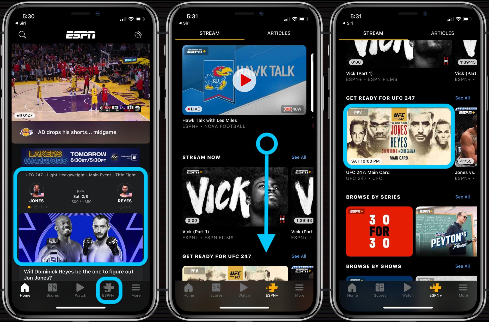 How to watch UFC 247 iPhone iPad Apple TV walkthrough