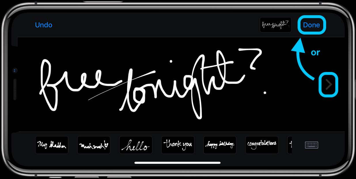 How to send handwritten iMessages iPhone walkthrough 2