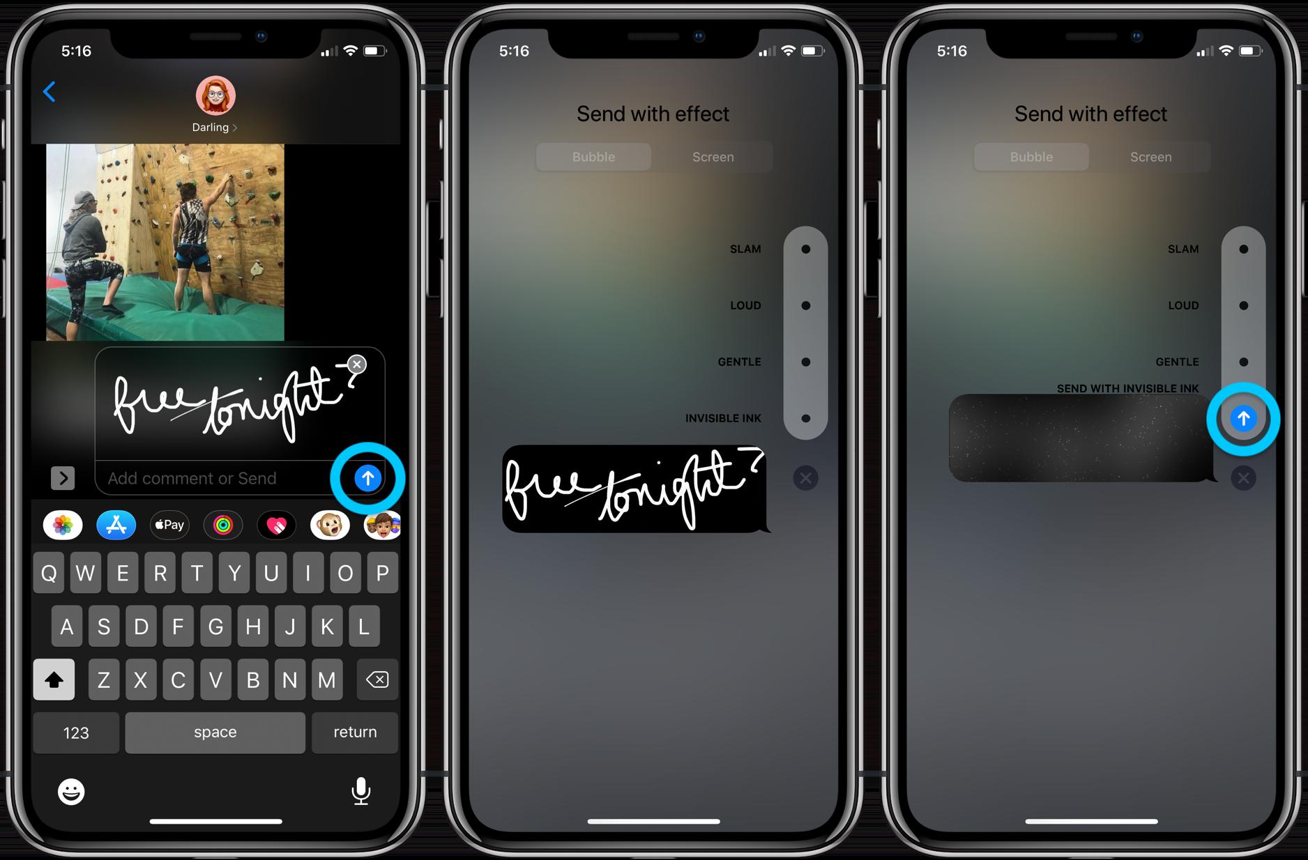 How to send handwritten iMessages iPhone walkthrough 3