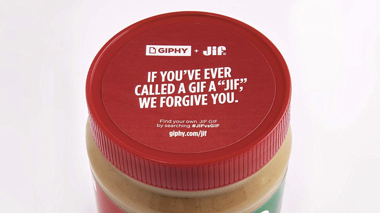 Jif GIF limite edition peanut butter