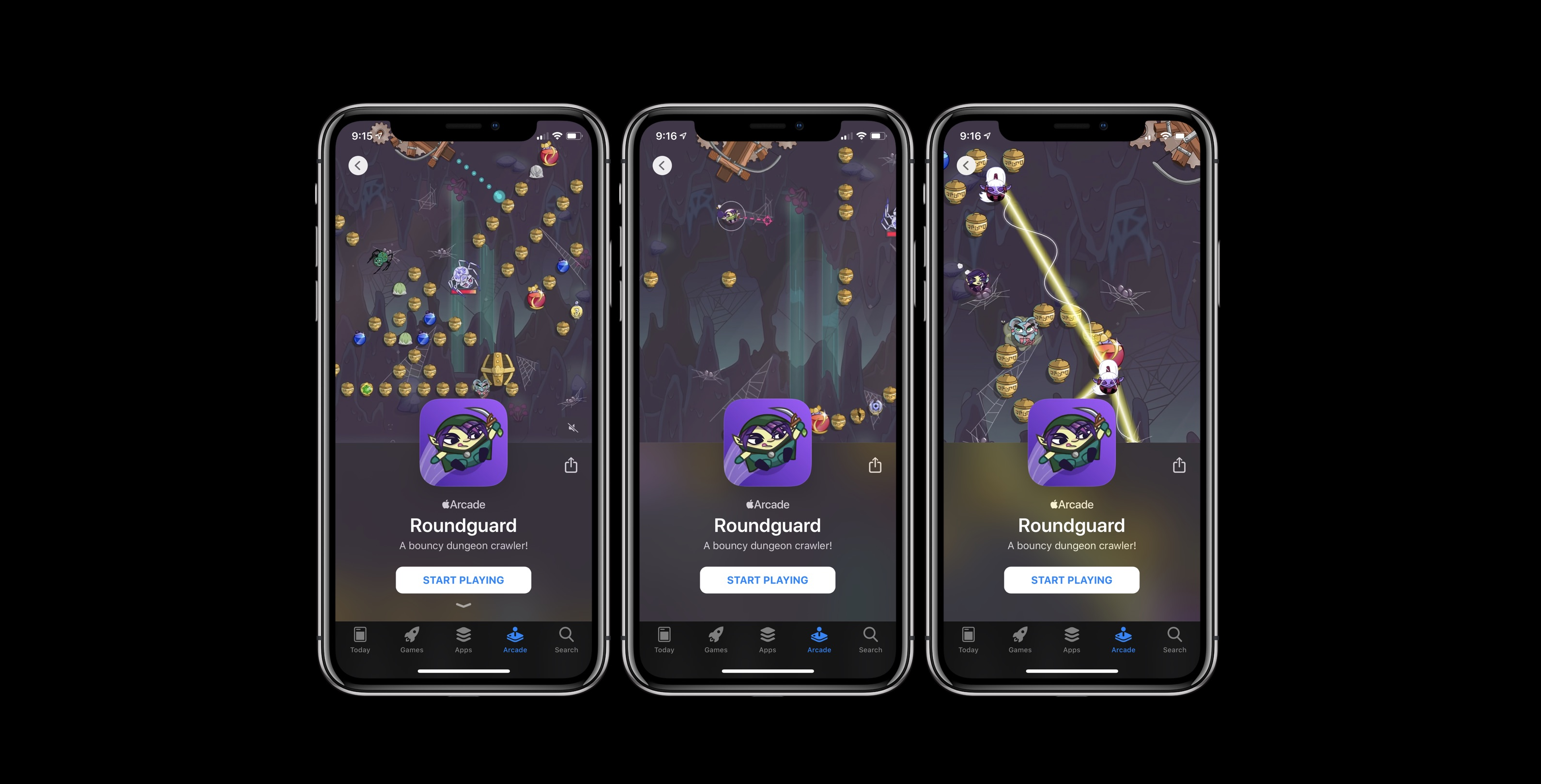 novo jogo Apple Arcade Roundguard 3/13