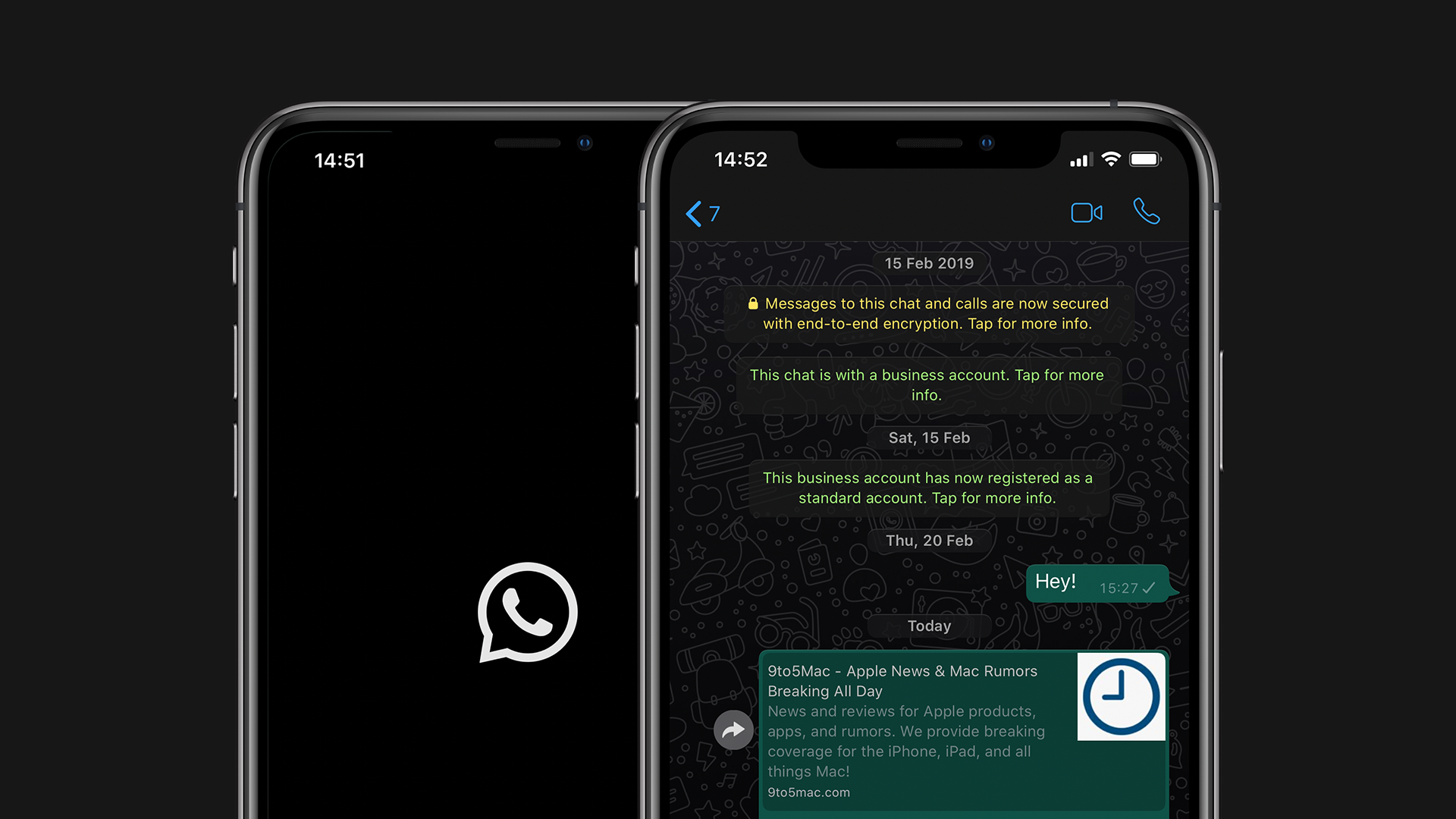 Image result for WhatsApp dark mode iOS
