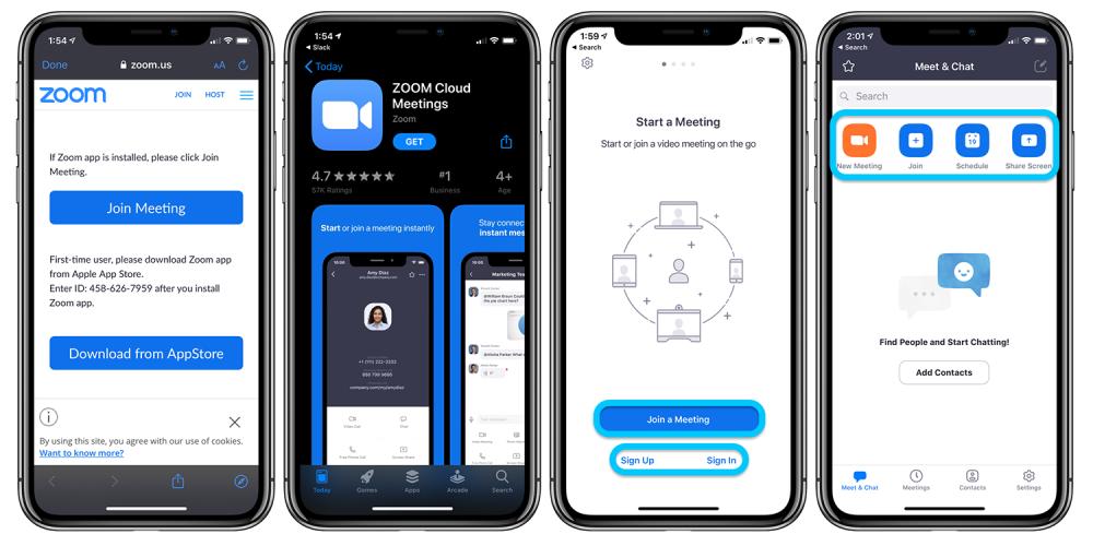 Zoom iOS app