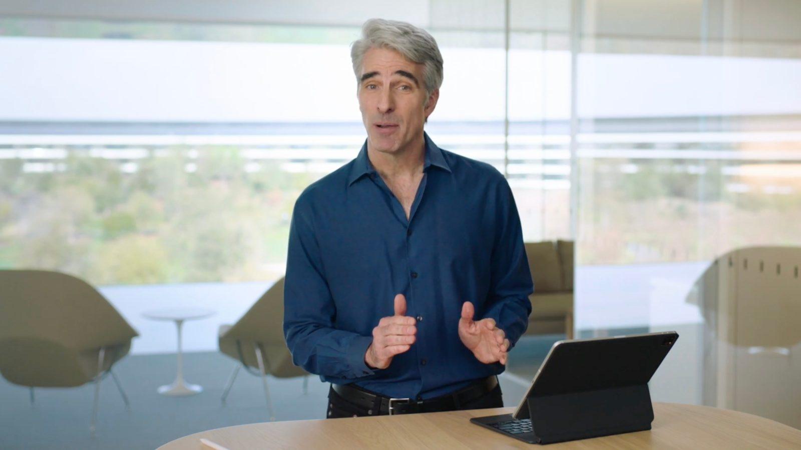 Watch Craig Federighi Demo The New Ipad Pro And Magic Keyboard With Trackpad 9to5mac