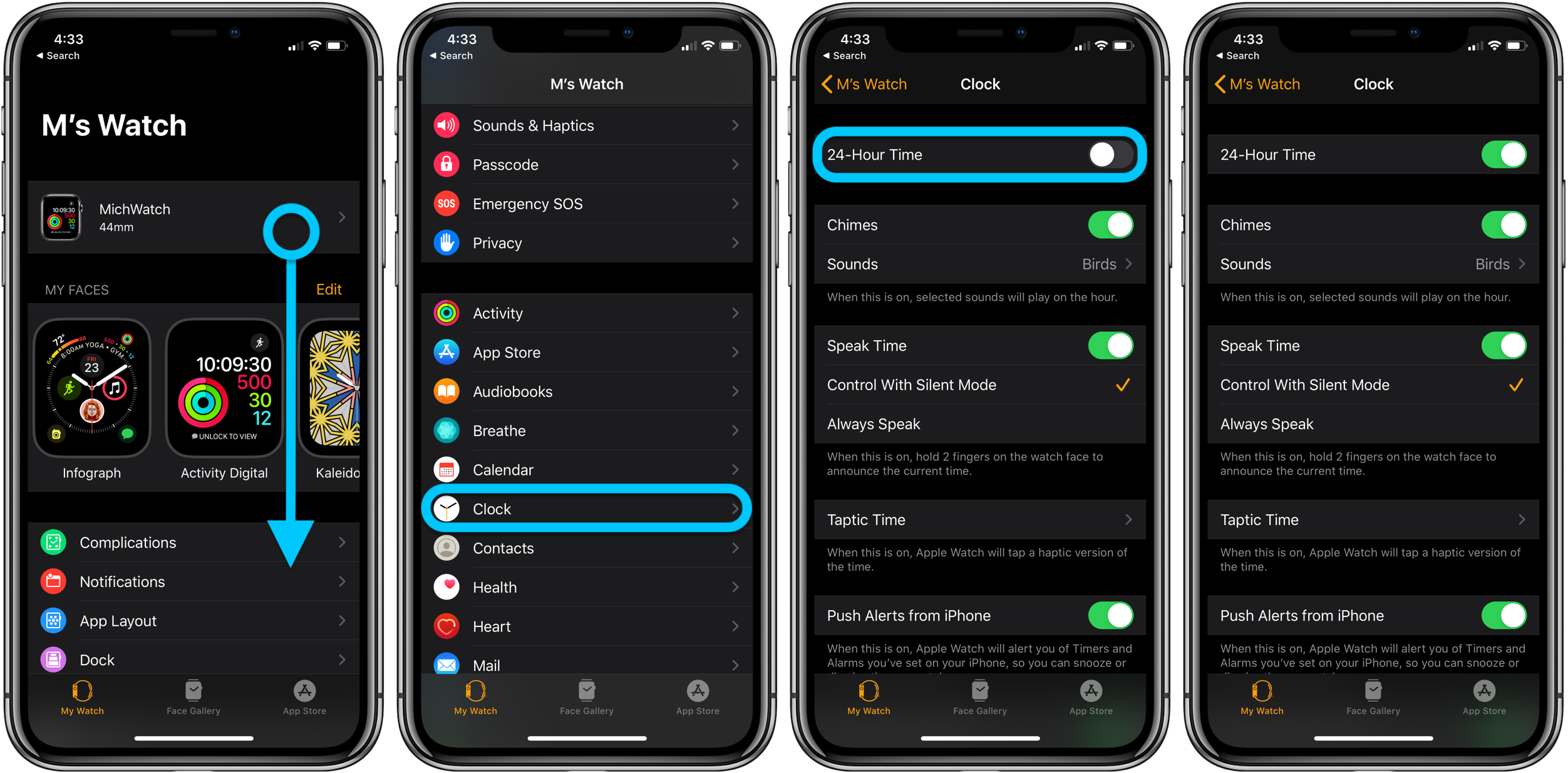 How to set Apple Watch military time 24-hour time walkthrough 1