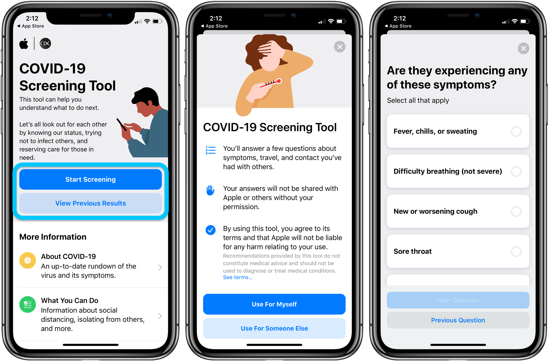 How to use coronavirus COVID-19 screening app and website walkthrough 4