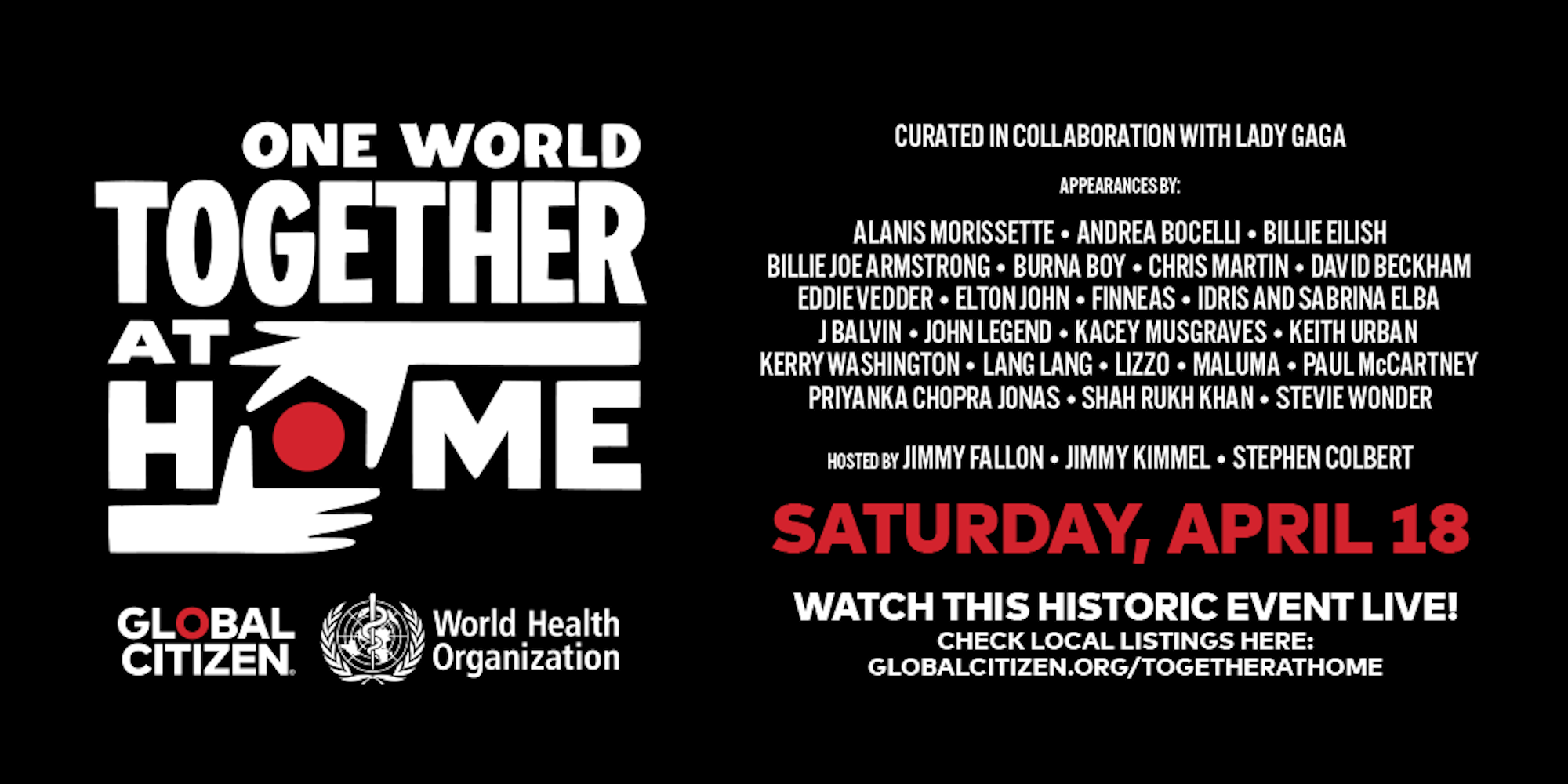 photo of Apple to live stream 'One World: Together At Home' virtual concert in benefit of COVID-19 image