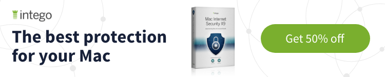 Intego Mac Security X9 with 50% discount