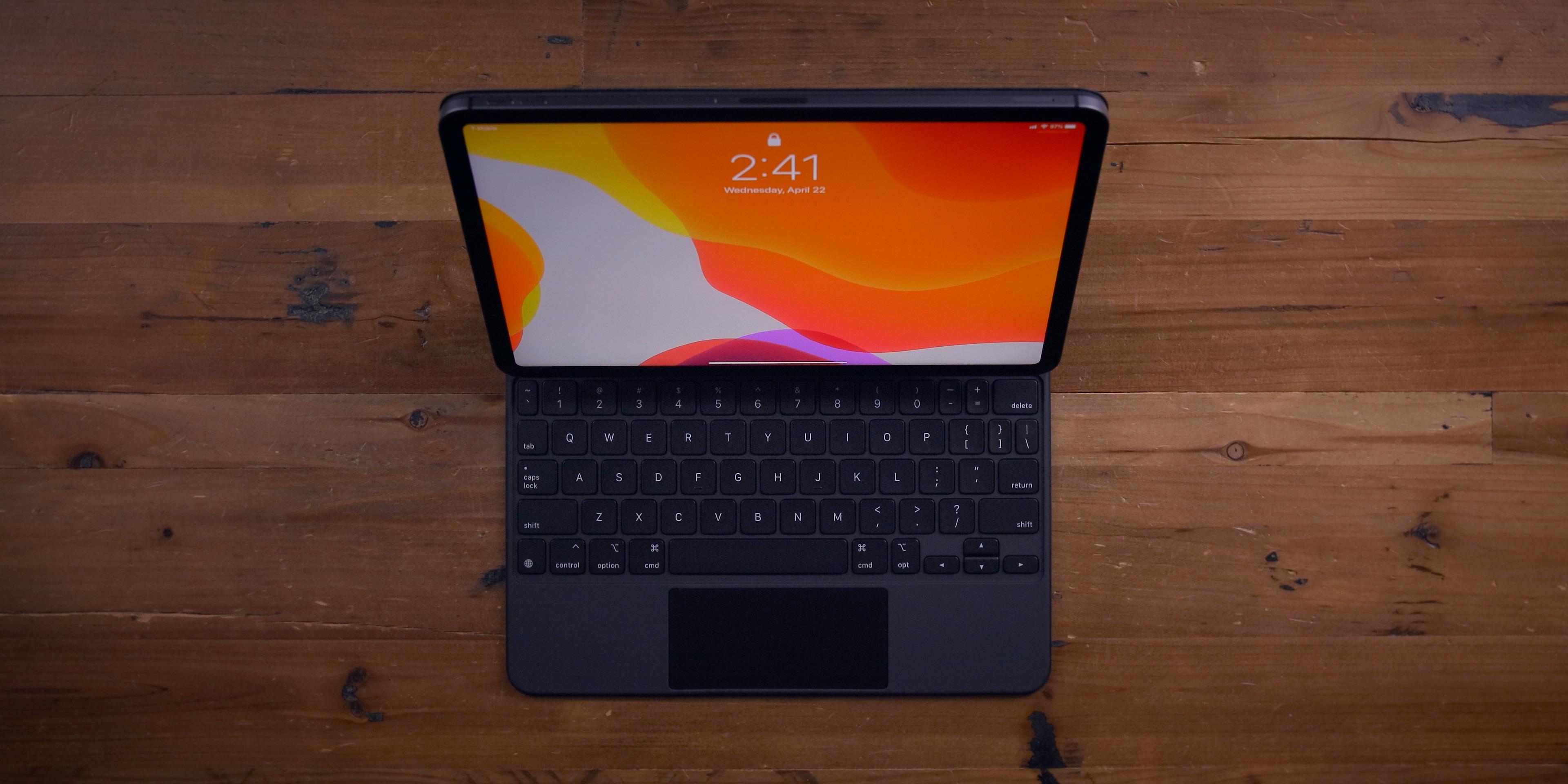 magic keyboard for ipad pro overhead