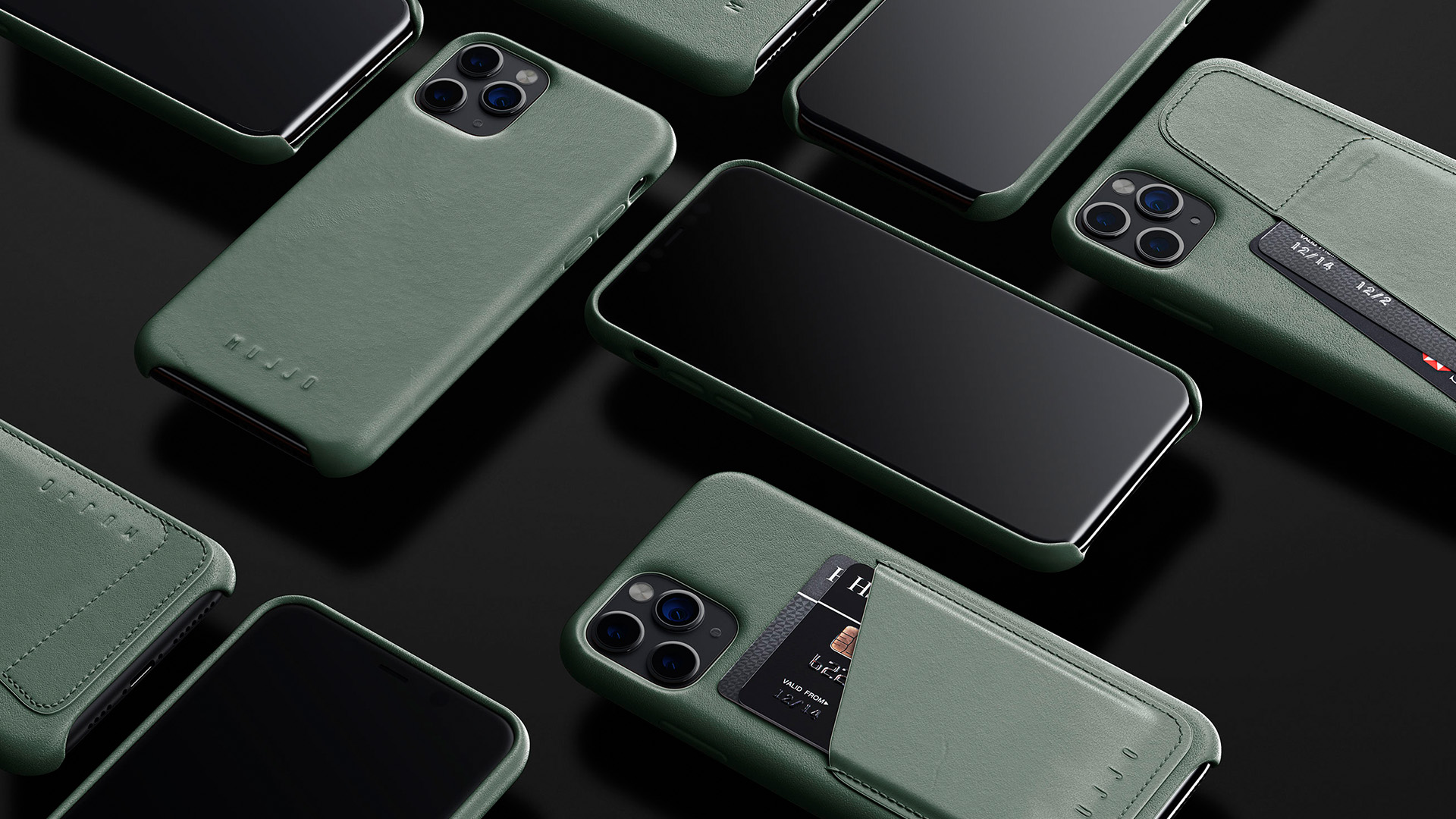 Mujjo Introduces New Slate Green Leather Cases To Match Midnight Green Iphone 11 Pro Models 9to5mac