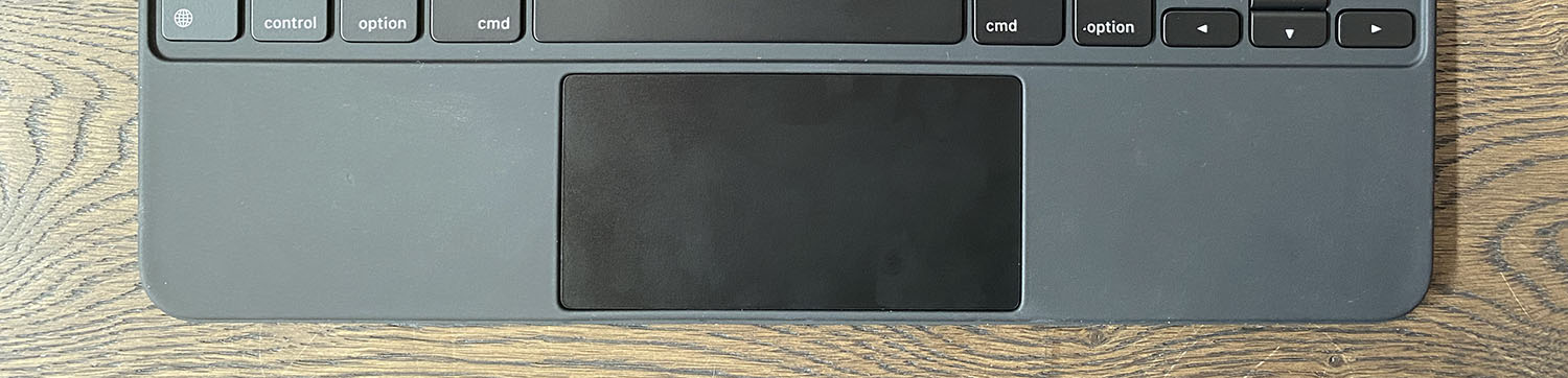 First impressions of the Magic Keyboard trackpad