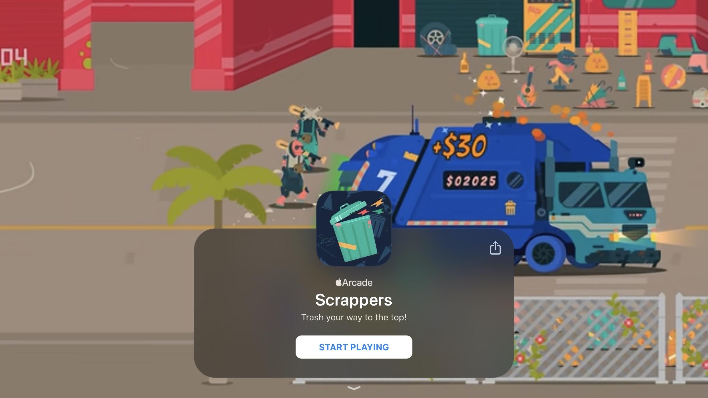 Apple Arcade nouveau jeu 4/10 Scrappers