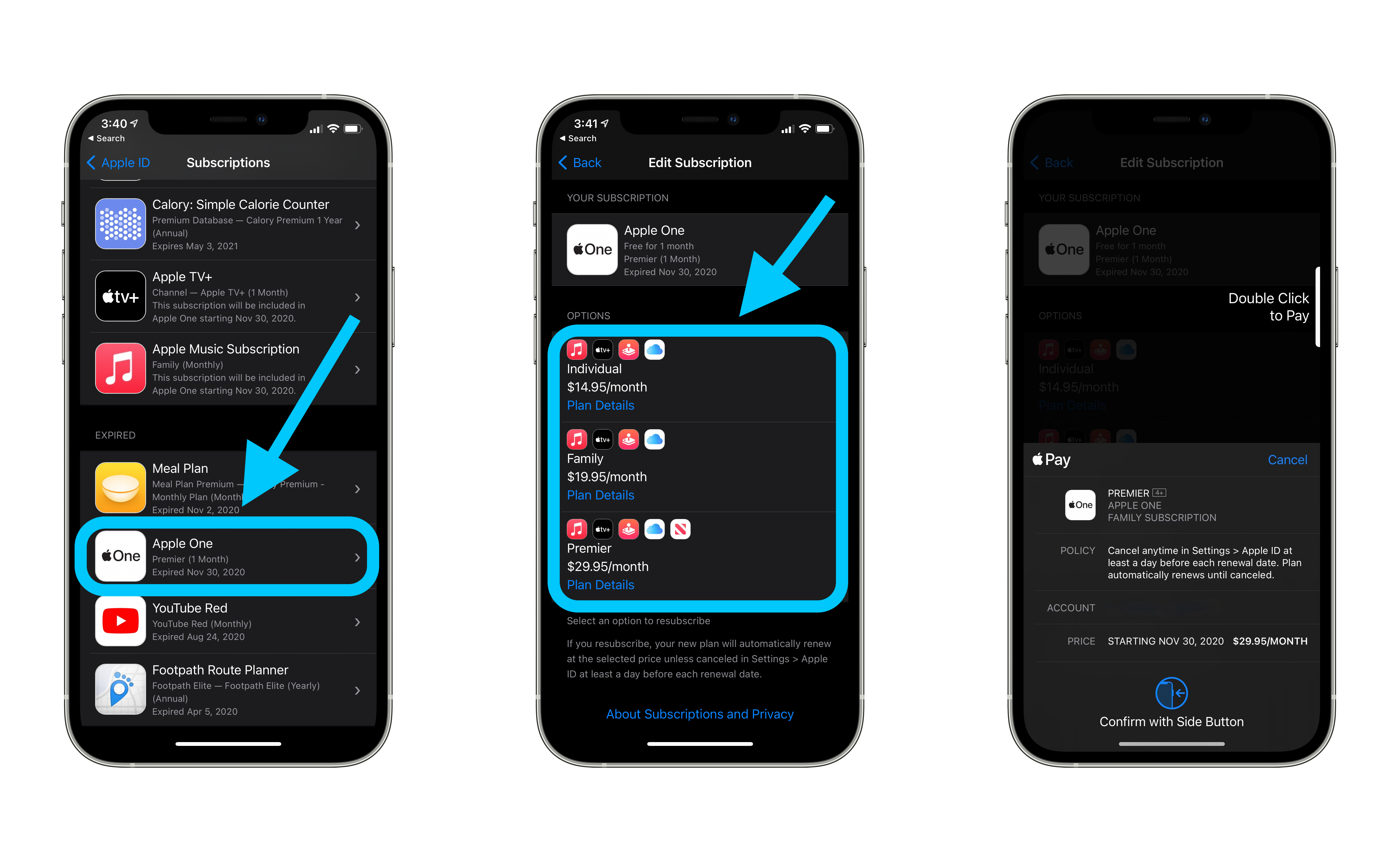 Check iPhone subscriptions problems with Apple one