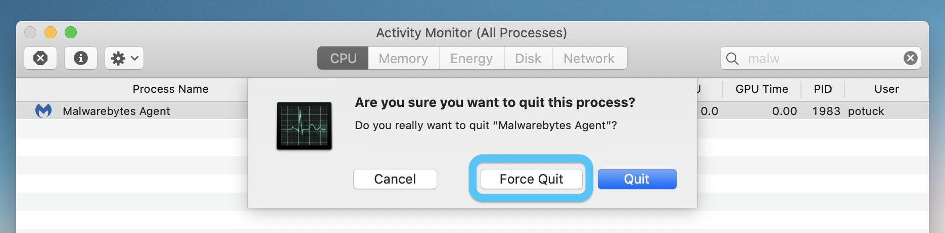 How to force quite Mac menu bar apps walkthrough 3