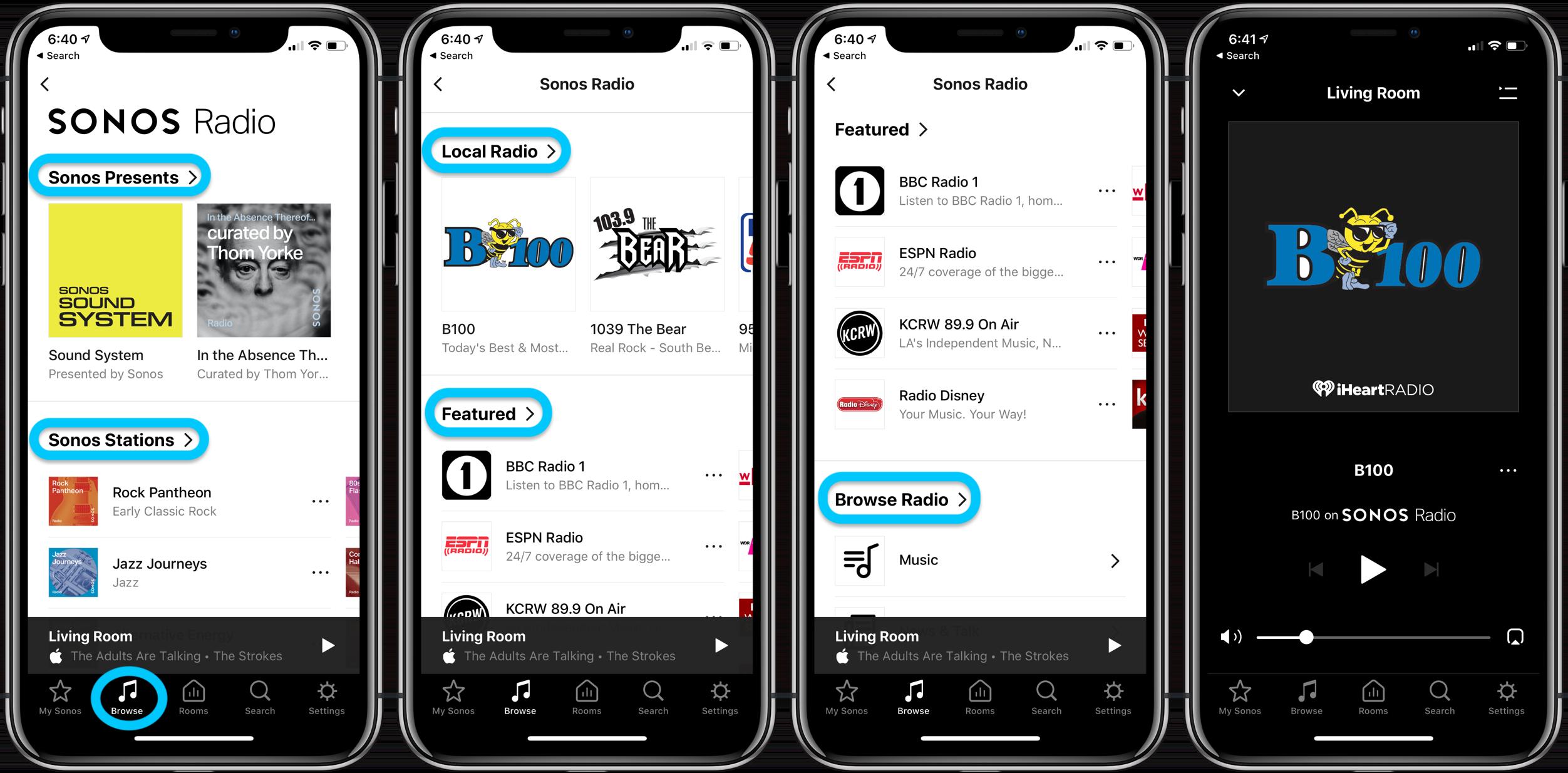 How to use Sonos Radio iPhone iPad walkthrough 2