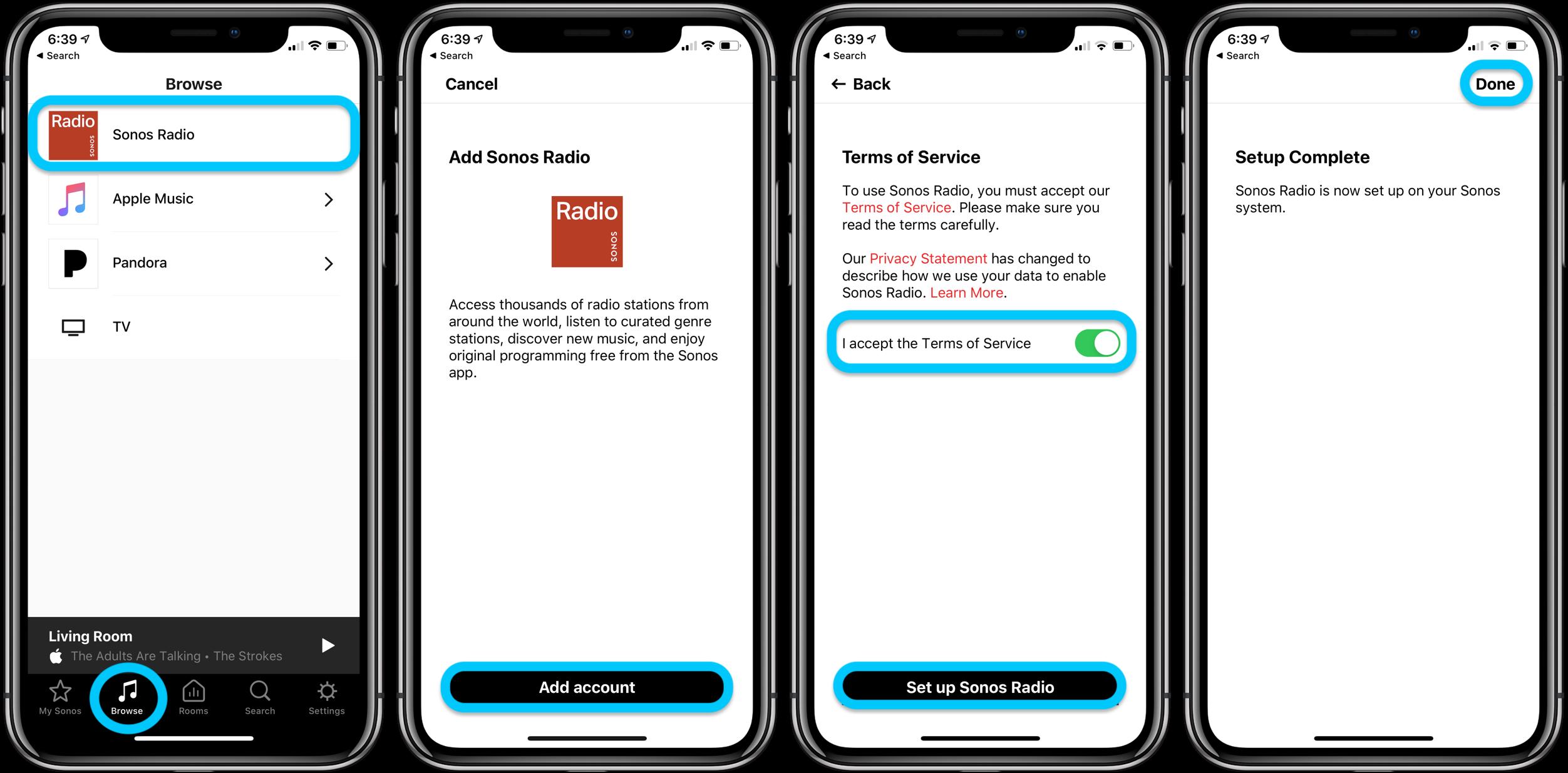 How to use Sonos Radio iPhone iPad walkthrough