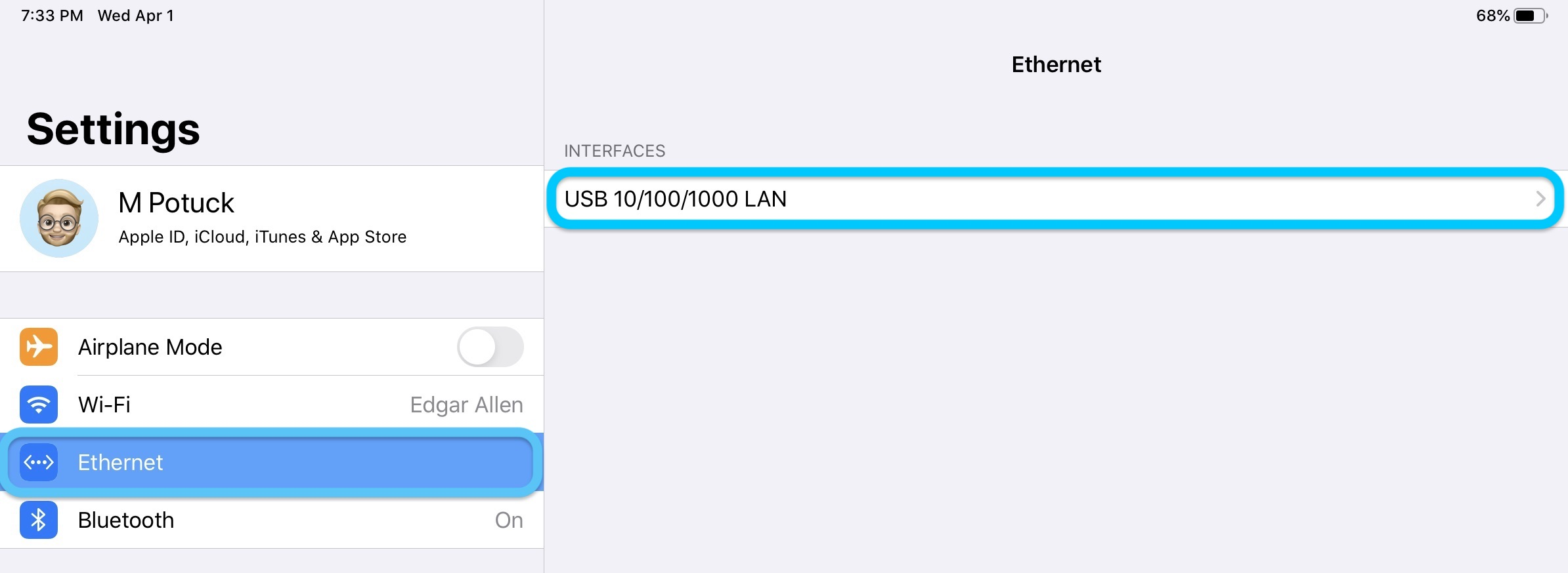 how to use Ethernet with iPad walkthrough