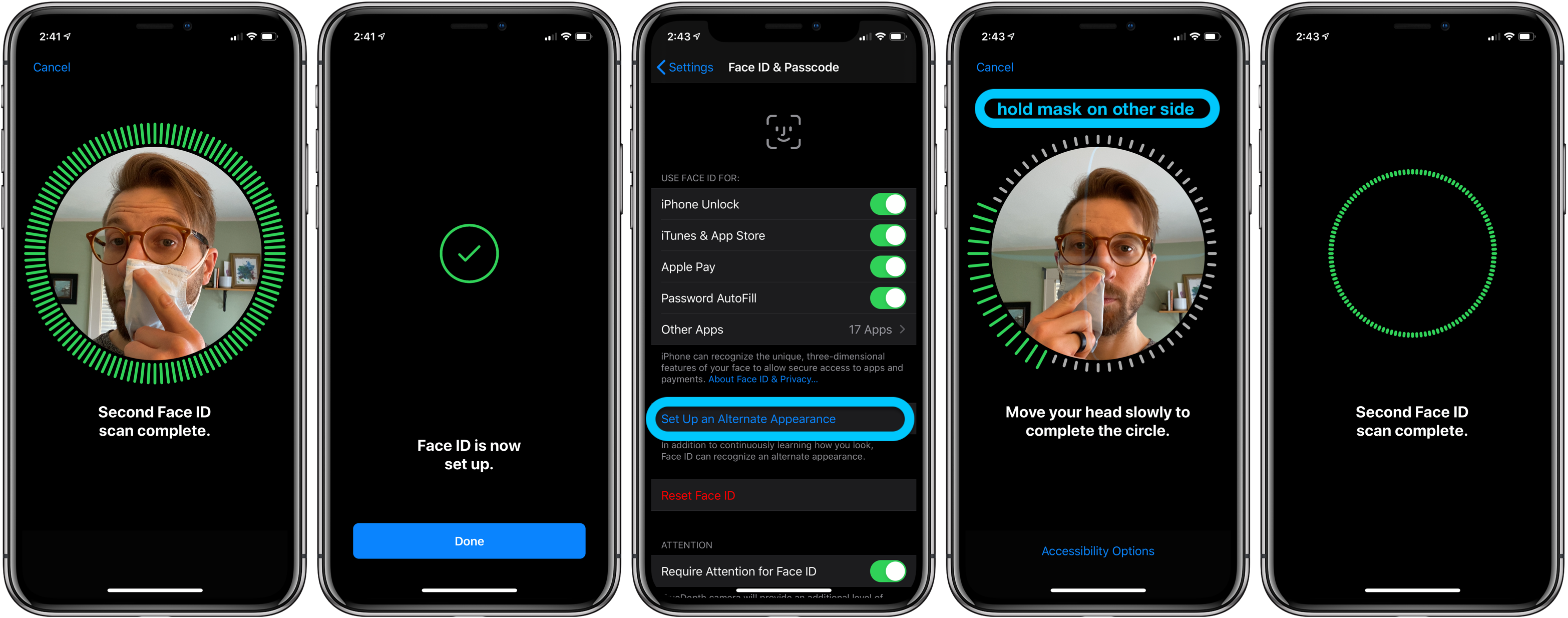 iPhone how to use Face ID with mask walkthrough 2