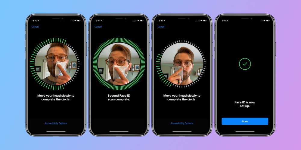 iPhone how to use Face ID with mask