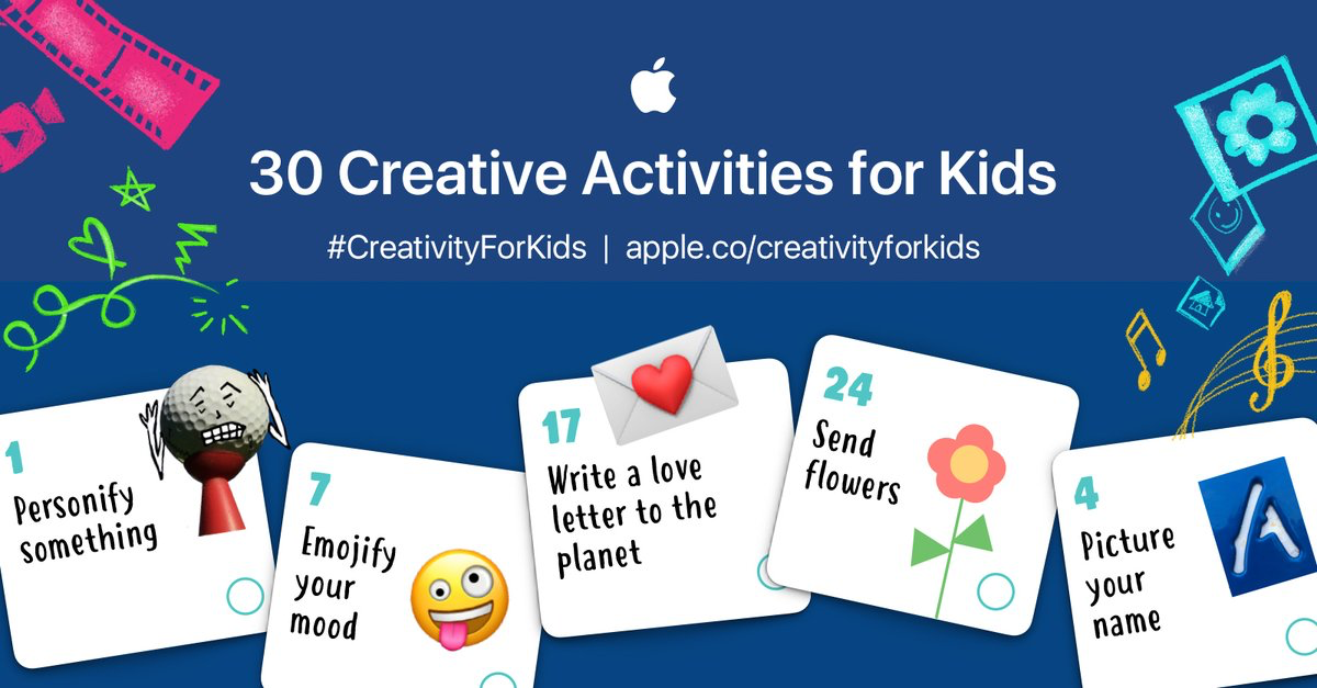 photo of Apple's education team publishes new '30 Creative Activities for Kids' worksheet image