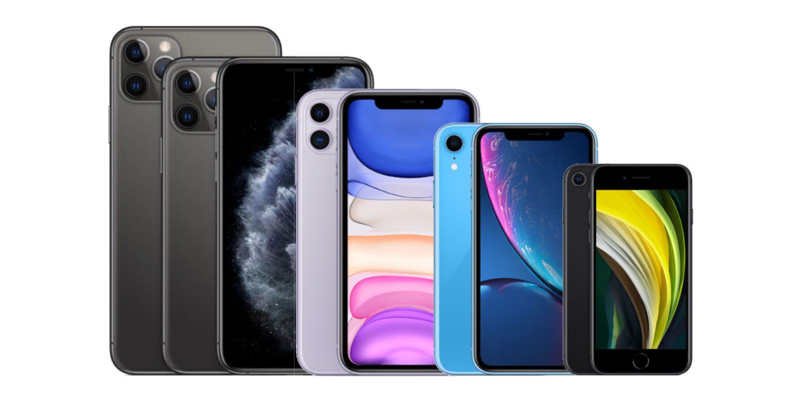 Minh họa các dòng Iphone