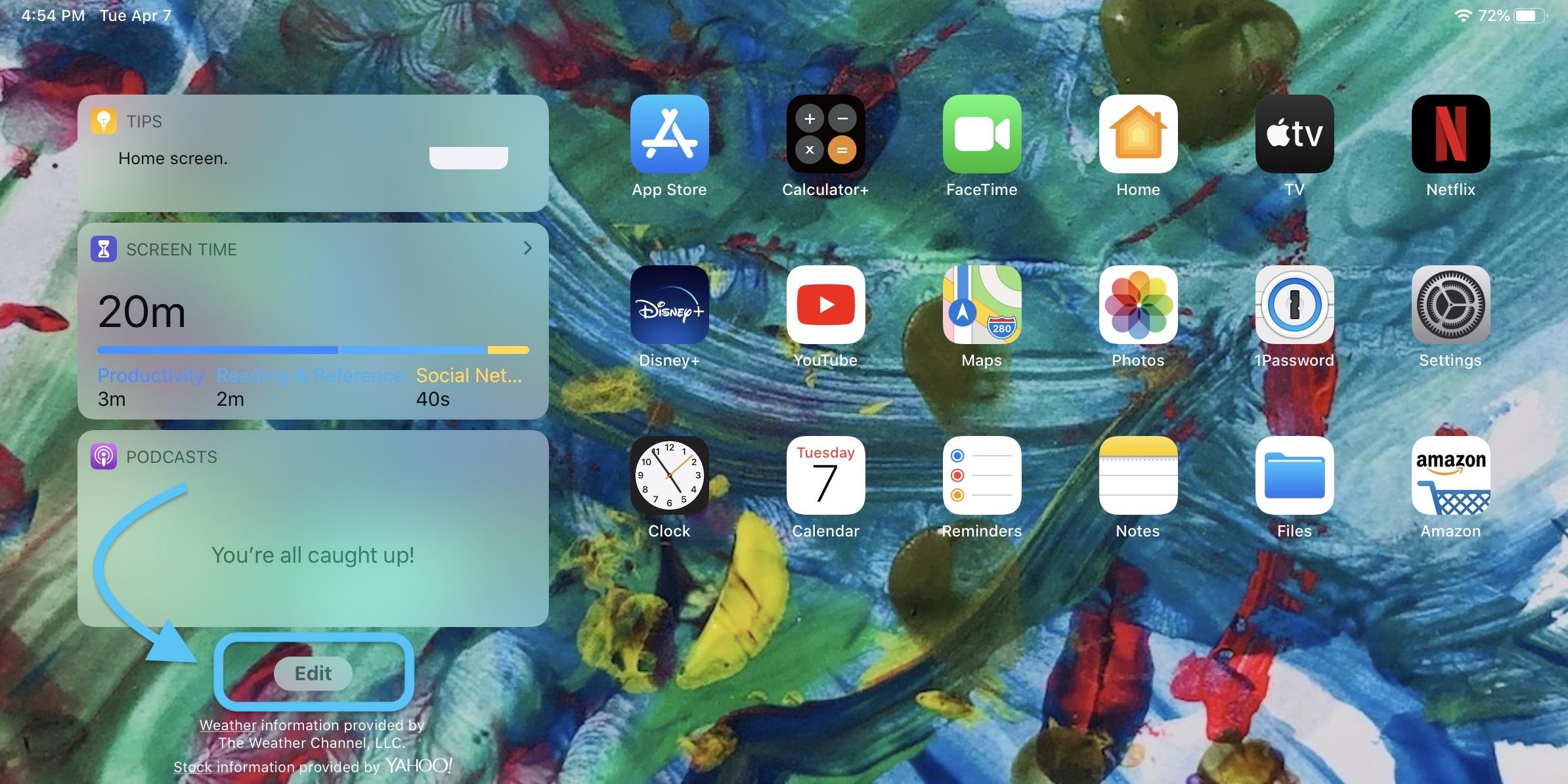 how to keep widgets iPad Home screen walkthrough 2