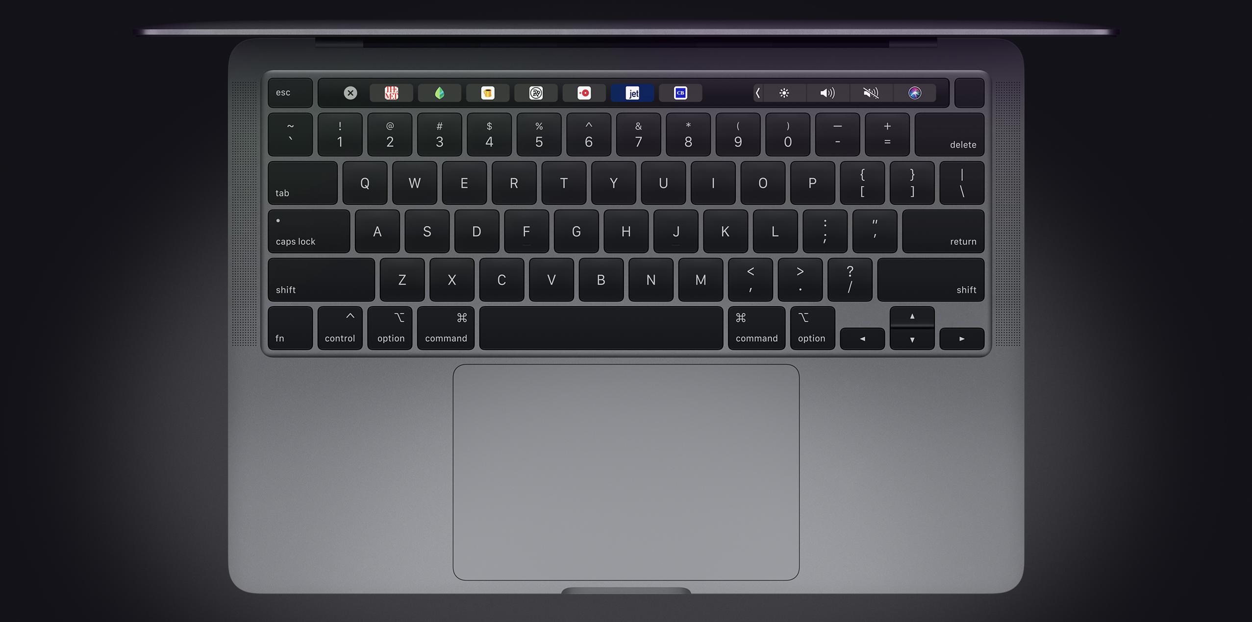 2020 13-inch MacBook Pro keyboard