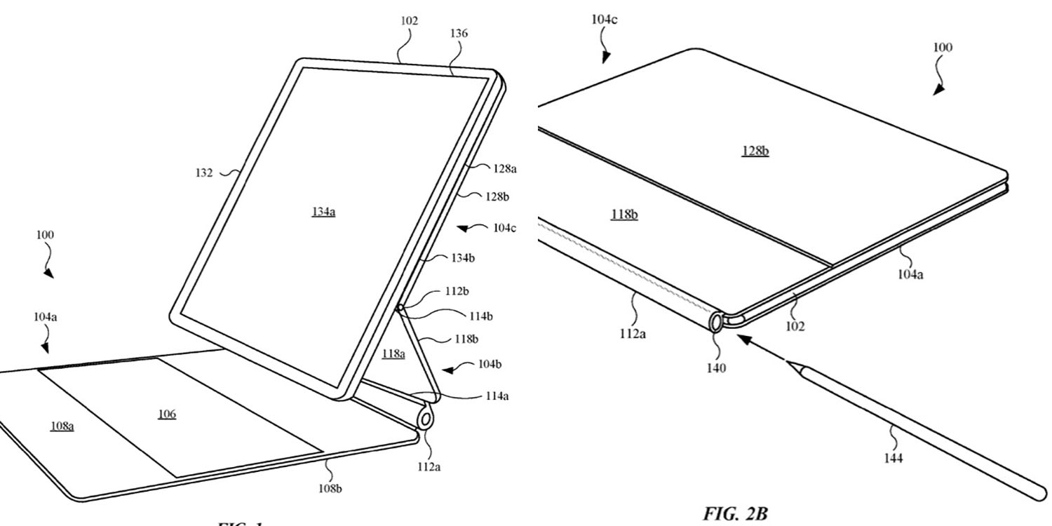 Patent for the iPad Magic Keyboard shows Apple Pencil slot