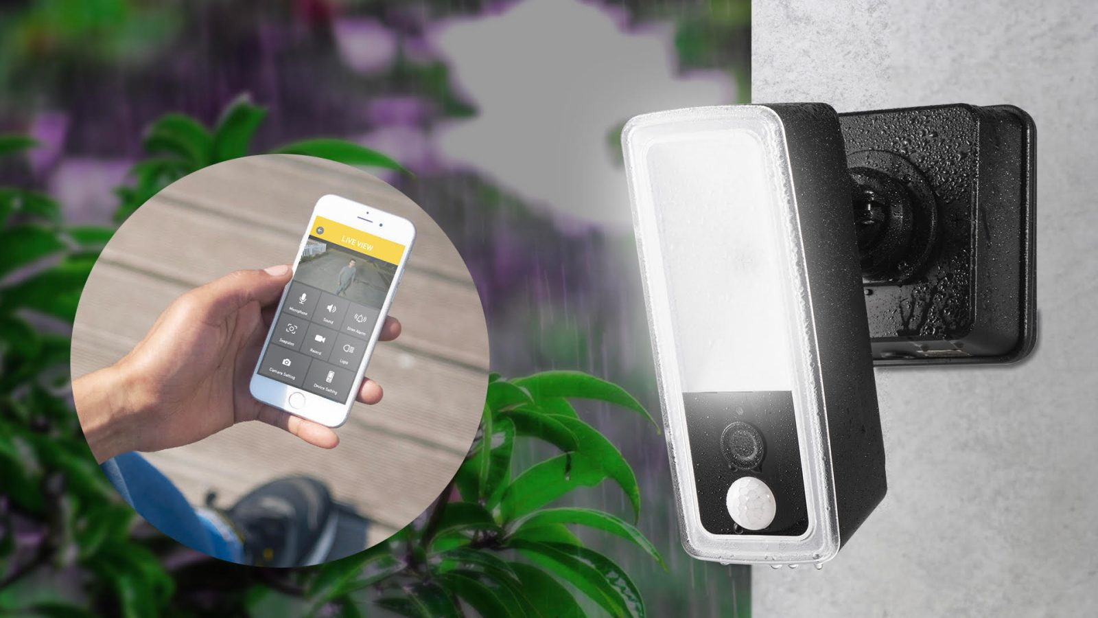KODA's new LightCam is a motion activated security camera with floodlight + alarm